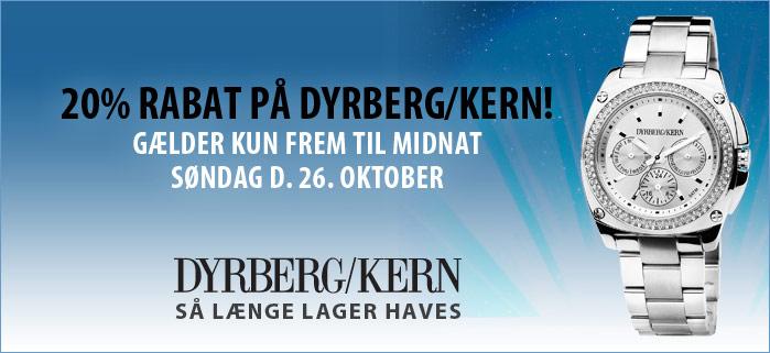20% rabat på Dyrberg/Kern ure