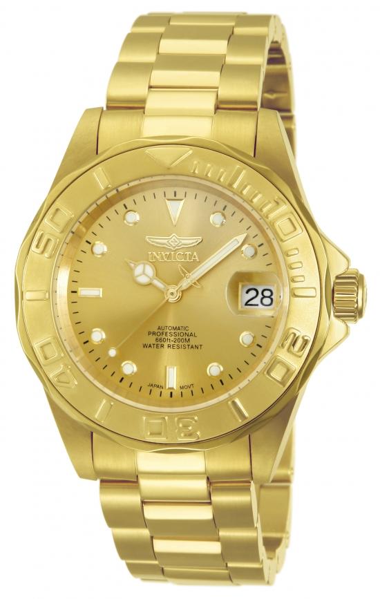 Dykkerur i guld med automatik værk - Invicta Pro Diver Automatic Gold/Gold 13929