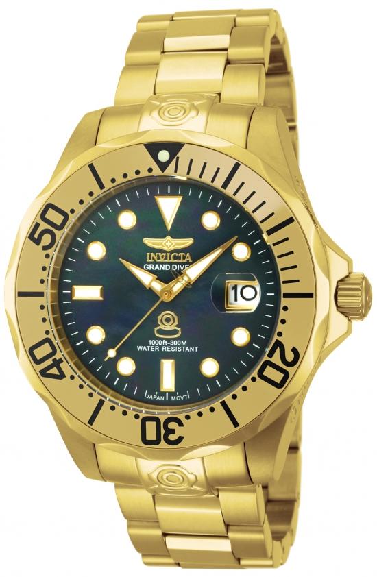 Dykkerur fra Invicta i guld/sort - Invicta Pro Diver Grand Automatic 13940