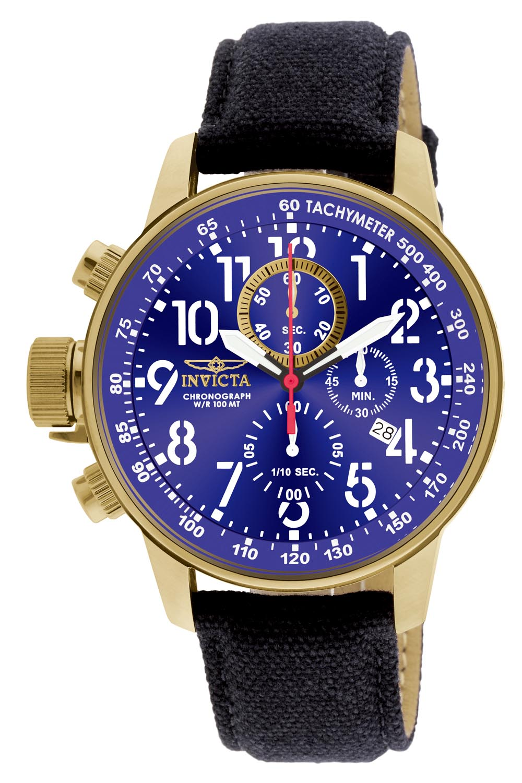 Invicta herreur med blå skive - Invicta Force Lefty Chronograph 1516
