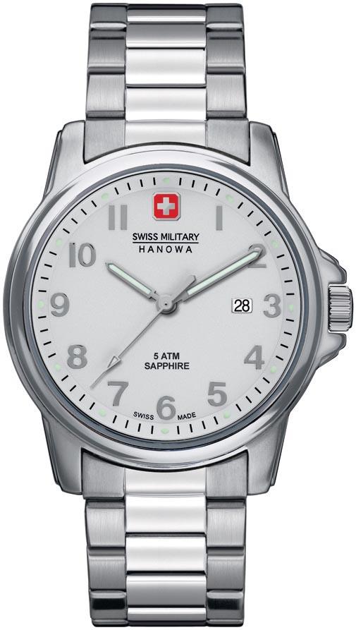 Schweizisk herreur i klassisk stil med safirglas - Swiss Military Hanowa Swiss Soldier 06-5231.04.001