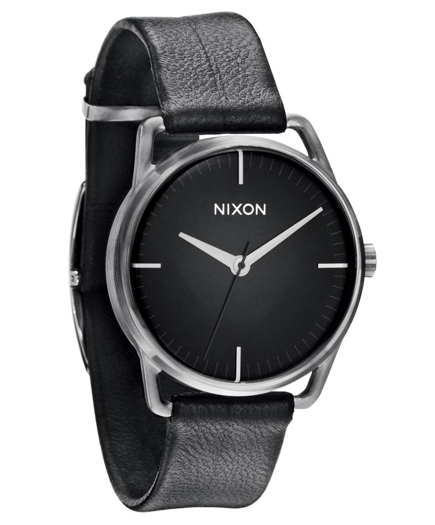 Klassisk armbåndsur med læderrem - Nixon Mellor Black A129-000