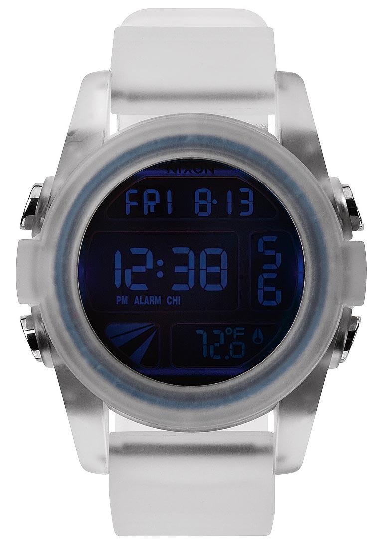 Stort digital ur med flot oplysende urkasse - Nixon Unit Translucent / Cosmos A197-1780