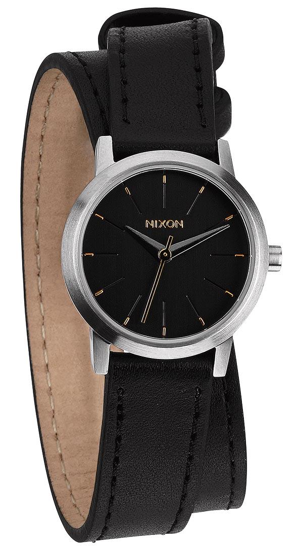 Ur til kvinder med lang sort læderrem - Nixon Kenzi Wrap Black A403-000