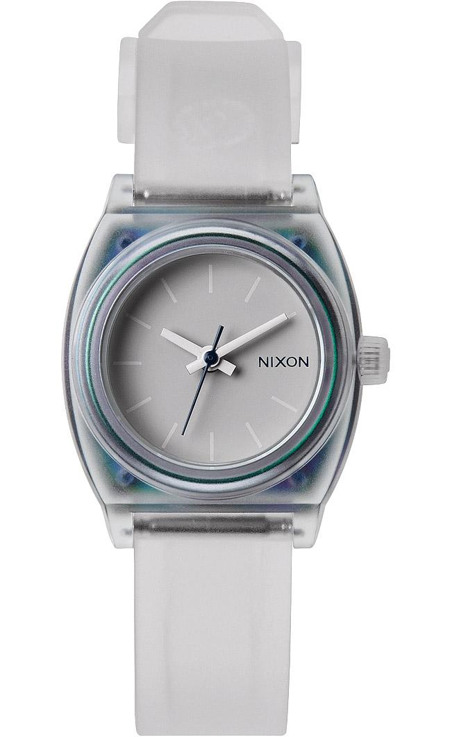 Lille Nixon ur med transparent rem og kasse - Nixon Small Time Teller P Translucent A425-1779
