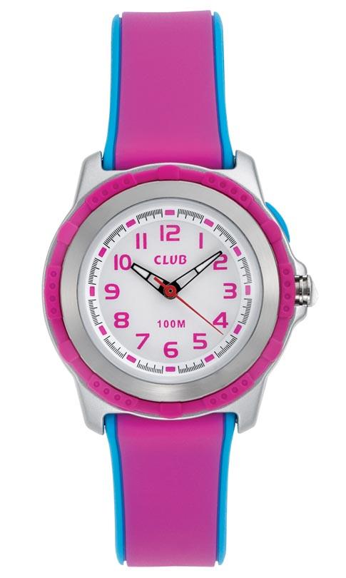 Vandtæt pigeur med lysknap - Club 100M Pink Blue A47104-2S0A