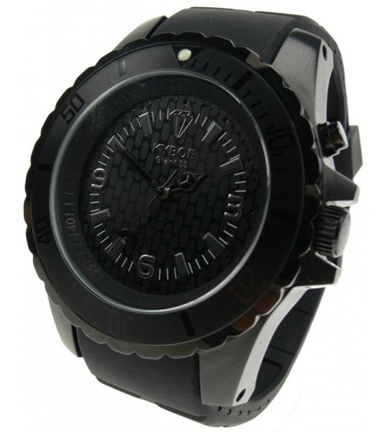 Oversize armbåndsur med lys - Kyboe Black BS55-005