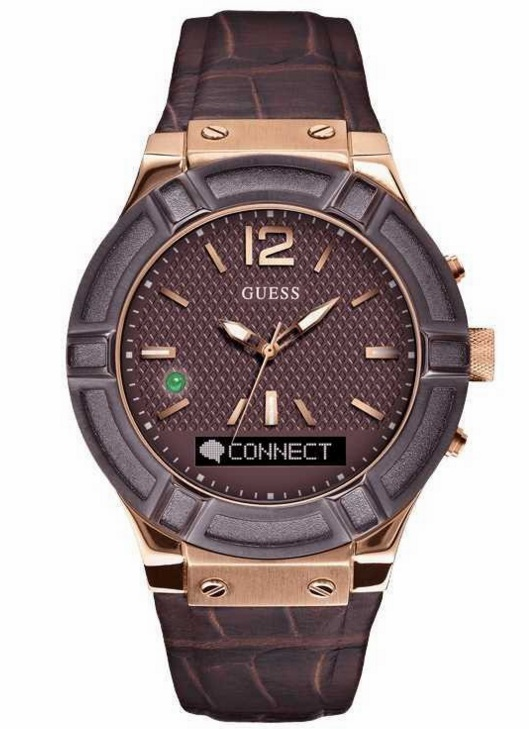 Guess Connect Bluetooth Brown/Rosegold Smartwatch 45mm - RIP