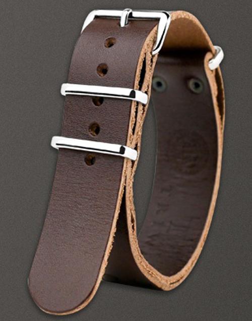 Mørkebrun læderrem - Triwa Heron Brown Tärnsjö STLE109