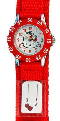 Rødt pige ur med velcro rem - Hello Kitty HK1460-118