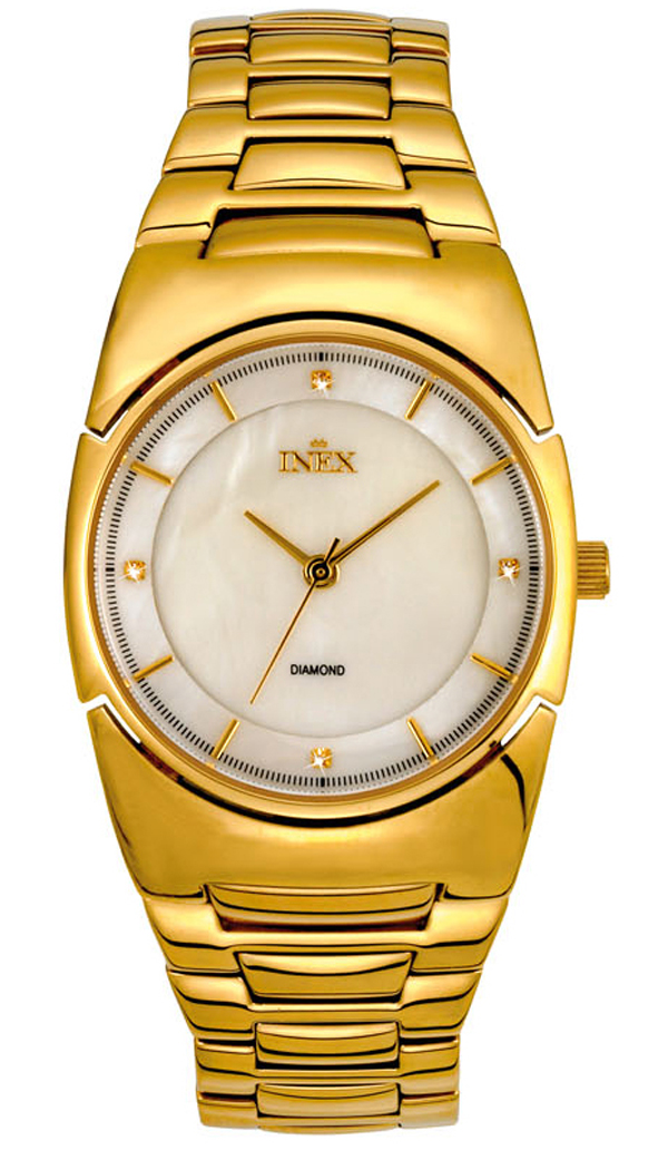 Guldur til kvinder - INEX Dame Doublé Perlemor 4 Diamanter A69396D11I