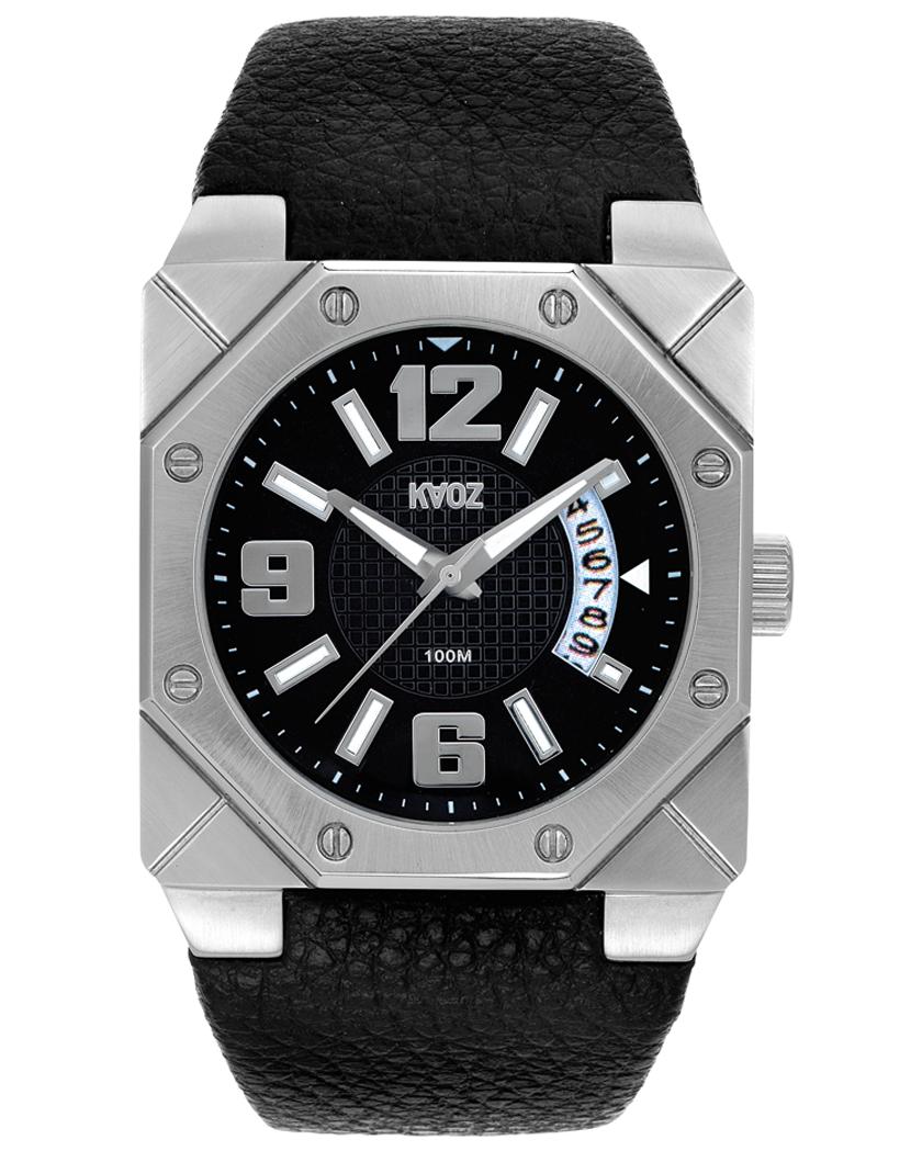 Råt armbåndsur med læderrem - KAOZ Herre A76174S5I