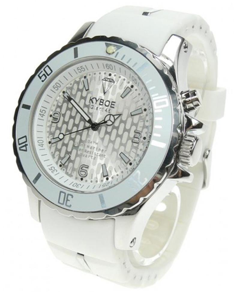 Kyboe Silver ur i ny 40 millimeter version - Kyboe Silver White 40MM KY40-010