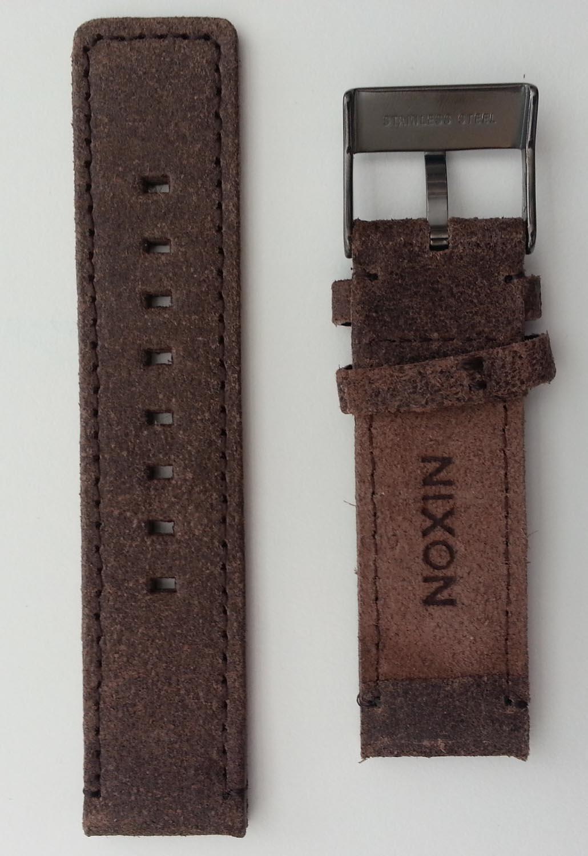 Ekstra rem til Nixon Sentry Leather serien - Strap for Nixon Sentry Leather Gunmetal / Brown