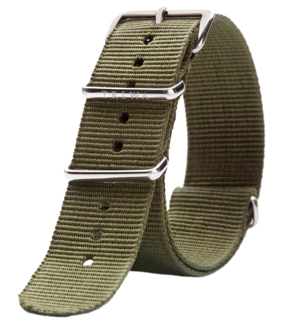 Army farvet nylon rem - Triwa Army Nato STNY114