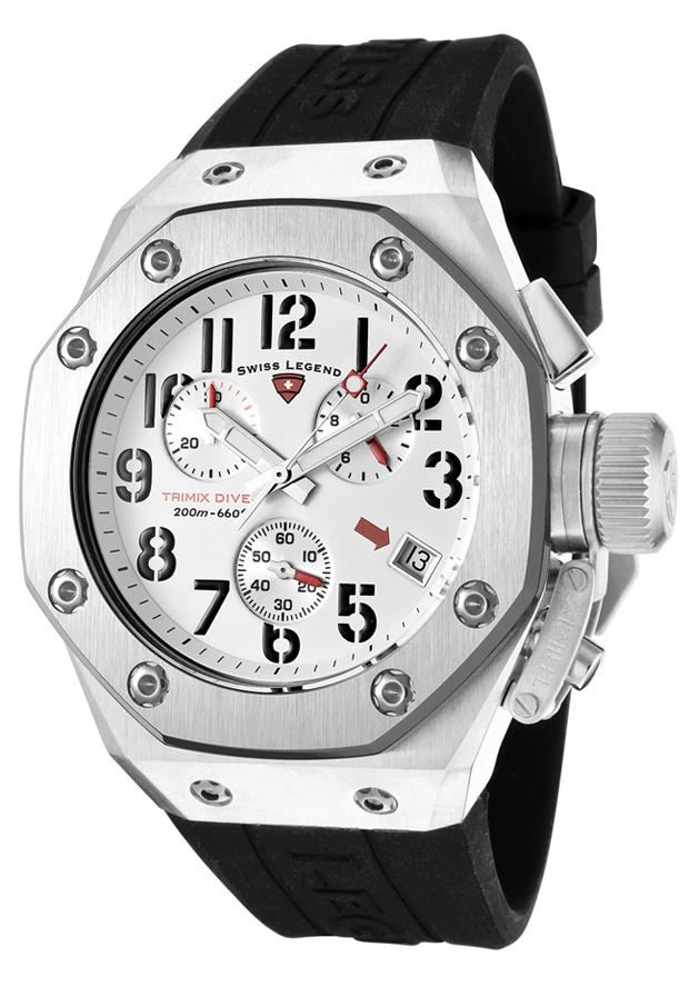 Watches Swiss Legend Tri Mix : Swiss legend trimix diver chronograph sl