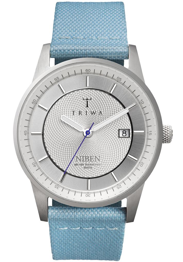 Stiling armbåndsur fra Triwa med blå kanvas/læderrem - Triwa Stirling Niben Sky Classic Sky NIST101.CL060812