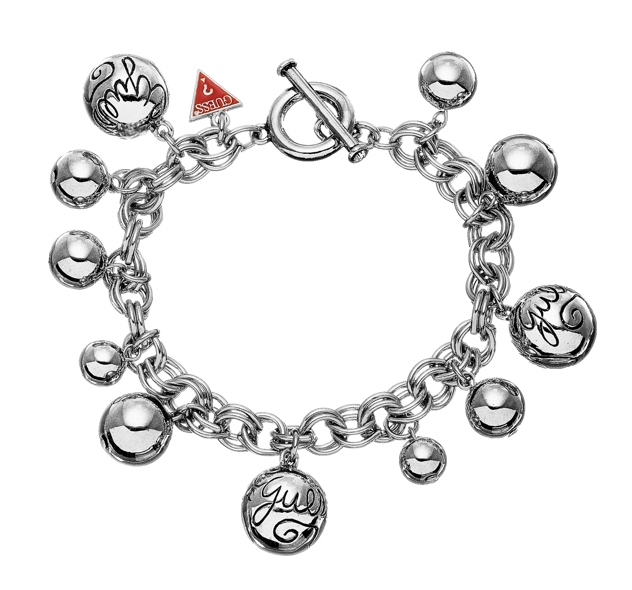 Smart sølvfarvet armbånd til kvinder - Guess UBB80812