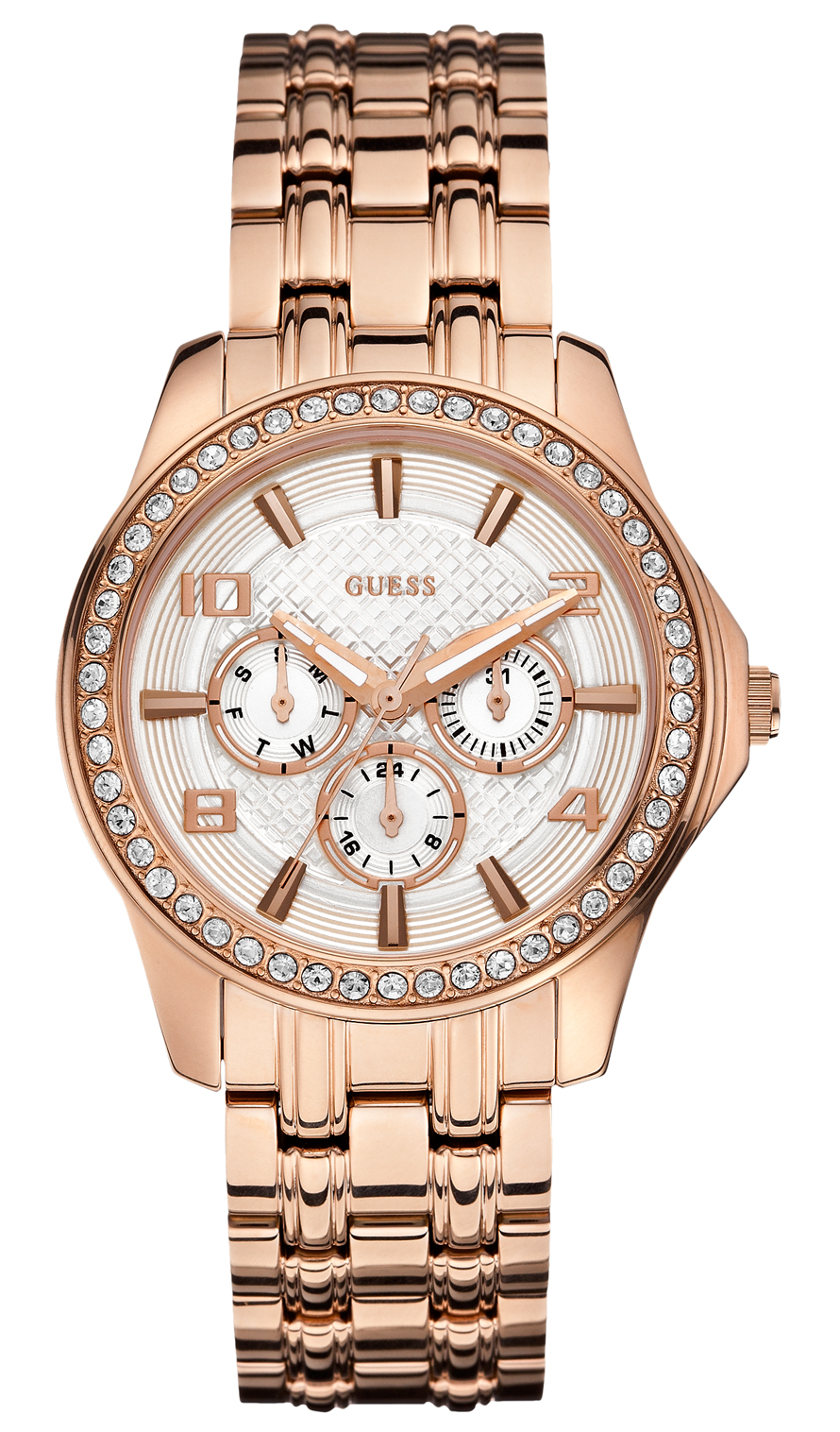 Rosegold dame armbåndsur fra Guess - Guess Exec W0147L3