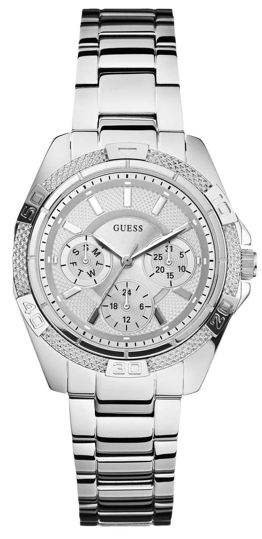 Flot Guess ur til kvinder i stål - Guess Mini Phantom Silver W0235L1