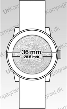 1f4ab579347 Klassisk designet armbåndsur fra danske Inex - Inex Saphilite Black Leather  A69468S0P er 37 mm bredt over urkassen (fra venstre til højre).