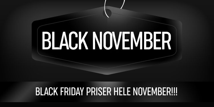 Black Friday priser hele November