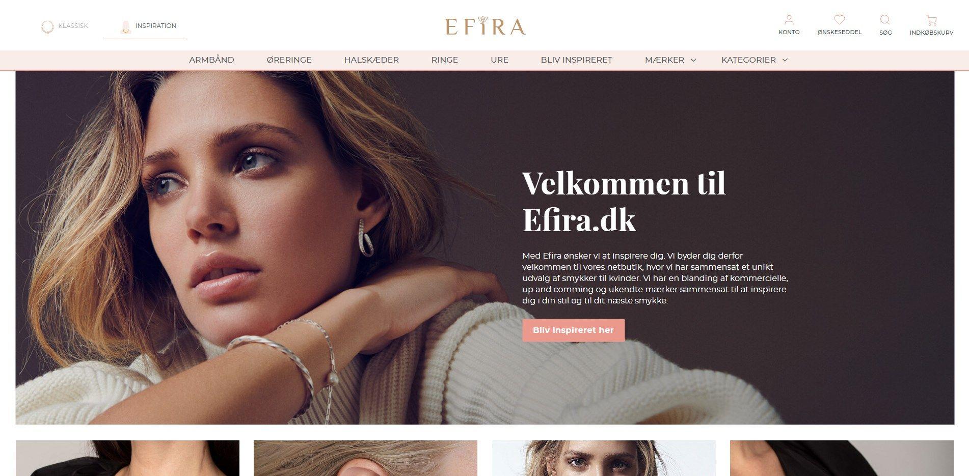 Efira.dk - Køb Smykker Online