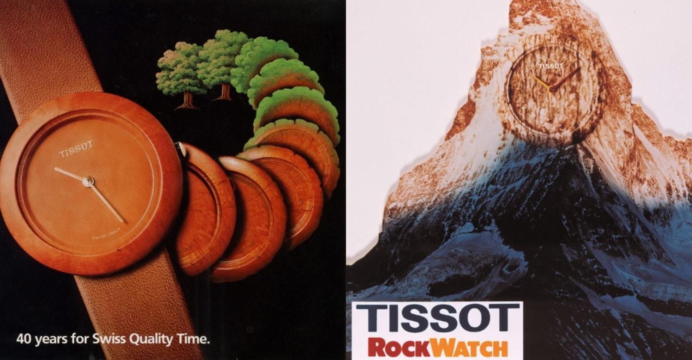 Tissot reklamer fra 1985 og 1989